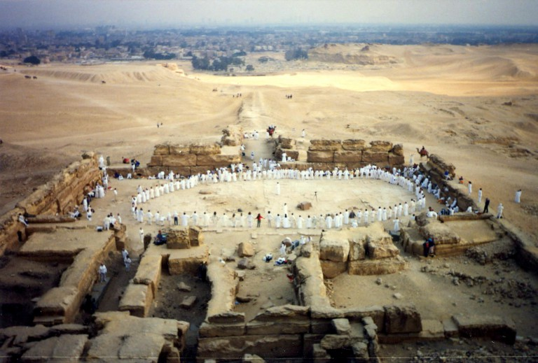 These amazing photographs were taken from atop the Third Pyramid.  They show us the vast scale of what really happened.