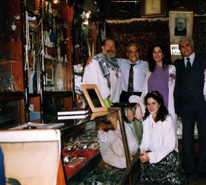 In the treasure-filled Old Mena House Shop with Aquataine, Muhammed, Solara, Nova & Zakariah.