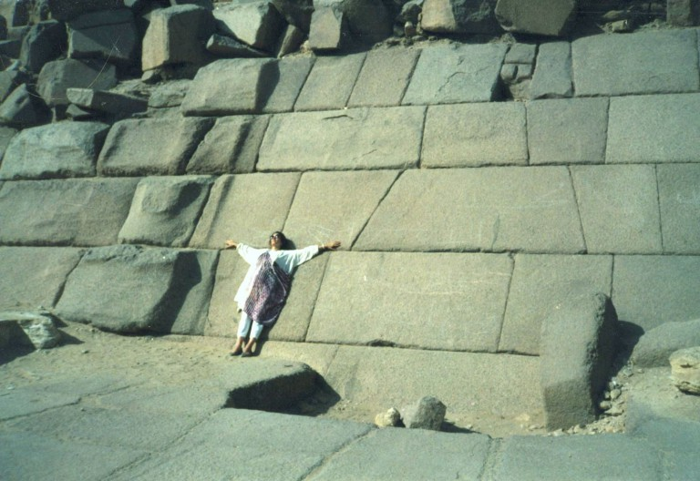 The outer stones on the bottom of the pyramid reminded me of Inca temples.  I felt very at home here.  This truly is a Temple of AN.