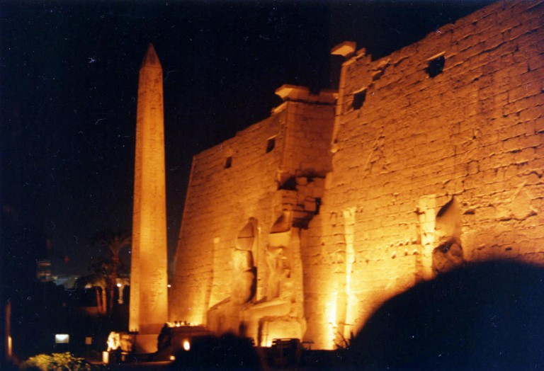 The Temple of Luxor with 11:11 built into the facade.