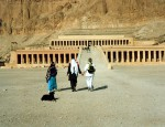 The Temple of Hatshepsut in the Valley of the Queens.    BACK ON THE BOAT