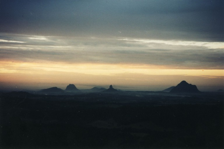 The mystical Glasshouse Mountains are over 20 million years old.