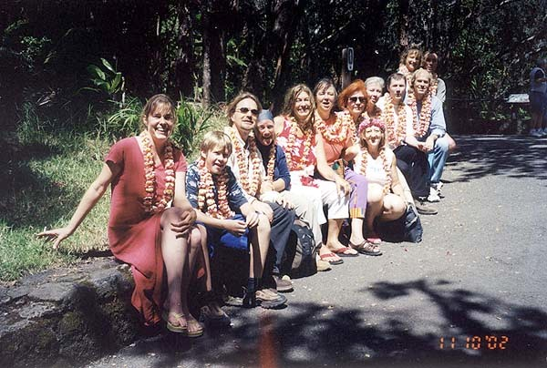 A few days before the sessions began, we visited Kilauea Volcano. We all wore flower leis to give to Mama Pele.