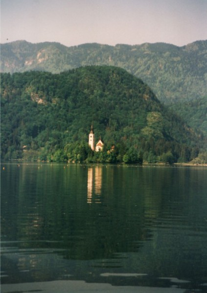 The gorgeous lake in Bled, Blejsko Jesero, was a strong presence at our Master Cylinder.