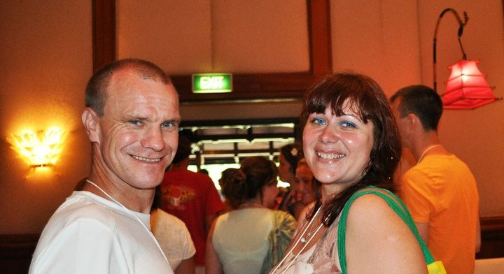 Miroslav from Slovakia with Anastasia from Russia.