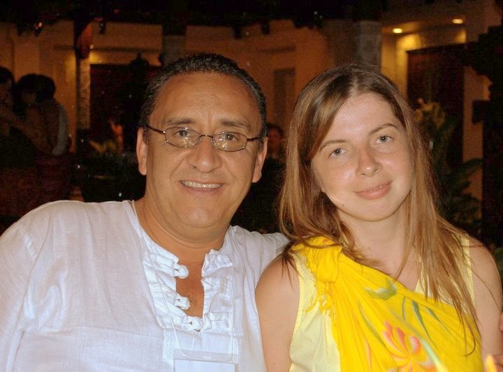 Victor from Mexico with Svetlana from Russia