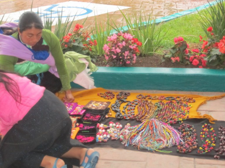In front of the hotel, several Mayan ladies sold a variety of treasures.