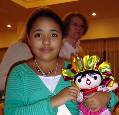 Afrika with her doll from a Mexican Anchor Group.