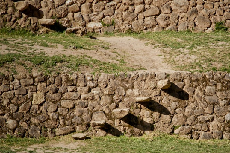 Here is a closeup of the Inca stairs.