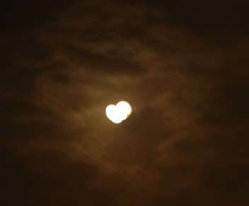 The heart shaped Moon watched over us.