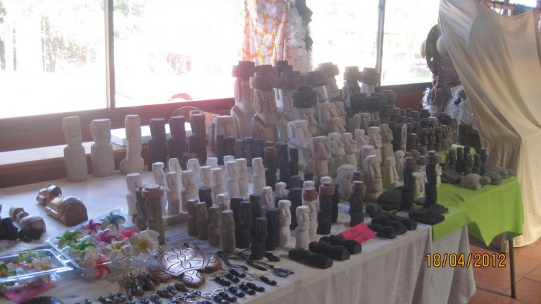 The Artesania Market has a large selection of hand carved moai.