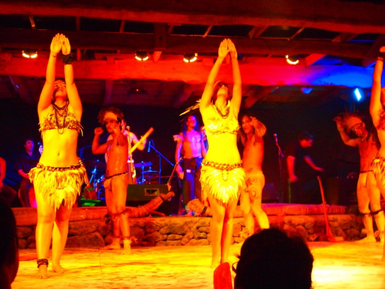 Some of our group went to the wild Rapa Nui Dance Shows.