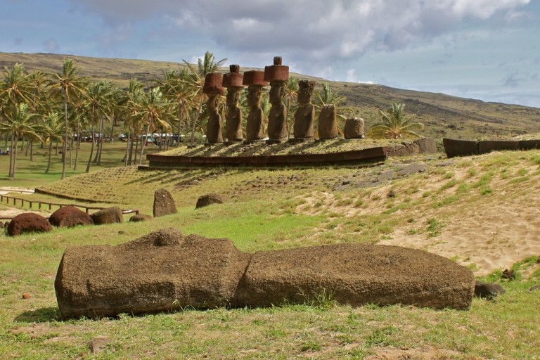 The Moai await us.