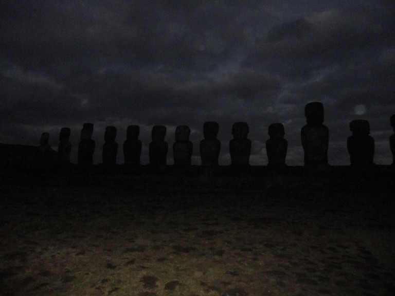 The Moai slowly appeared before us.