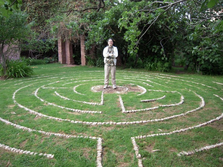 Arbaline embodying PURE HEART LOVE in the core of the labyrinth.