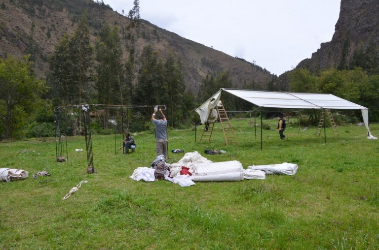 At the same time, our tents were being erected.