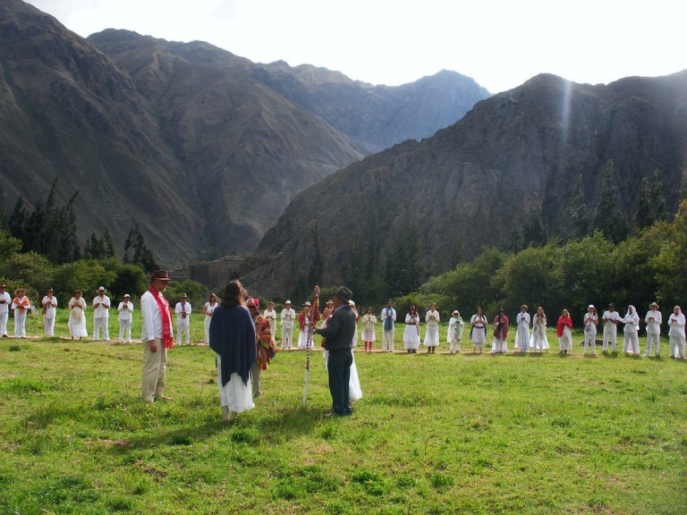 While this was happening, a condor circled our Ceremony. Condors are very rare in the Sacred Valley.