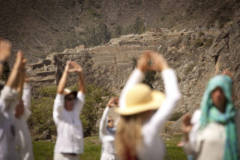 Our Ceremony was visible from the Inca temple complex in Ollantaytambo.